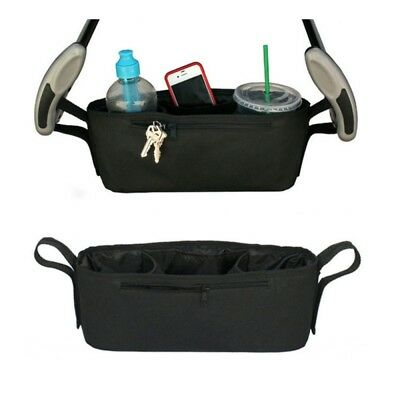 Baby Stroller Hanging Bag Pushchair Safe Console Cup Holder Organizer Pouch Case