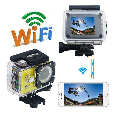 4K Ultra HD 1080P Wifi Waterproof Sports Action Camera Camcorder DV w/ RC