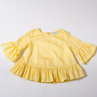 "Blusa Yellow Light Bluse For Girl Kids (10/12Y)""monnalisa"" 171700 2018 {-50%}"