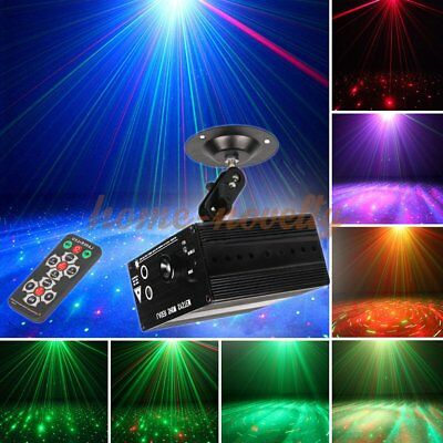 48 Pattern Laser Projector Stage Lights Mini LED RGB Lighting Party Disco QH