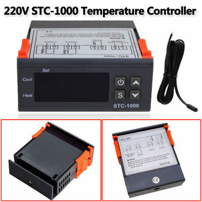 Digital Temperature Thermostat STC-1000 Controller -50℃~99℃ Heating Cooling UK