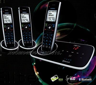 Uniden 9135+2 Three Handset Cordless Phone With Built In Bluetooth Slim Style