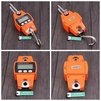 Brand New Crane Scale Portable LCD Digital Electronic Hook Hanging Weight 300kg