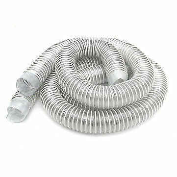 2pcs Industrial Extractor Dust Collector Hose with Hoop and Screw