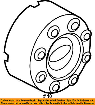 08 10 Genuine Ford F250 F350 Super Duty Rear Chrome 8 Lug Wheel Hub