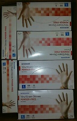 New 100 CLEAR VINYL EXAM GLOVES》Powder-Free》Non-Sterile》14-118》Large