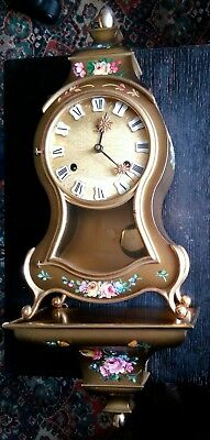 Palais Royal Swiss Made Mantelpiece (or Wall) Boulle  Clock (French  Style)