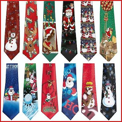 Novelty Fun Christmas Design Tie - Great for office party
