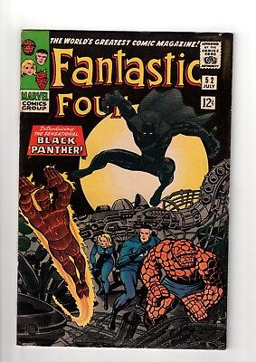 Marvel Comics Fantastic Four  1966 #52  Black Panther  5.0 Vgf