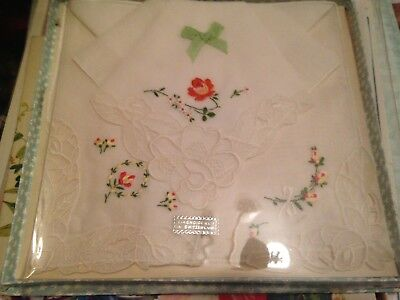 Vintage Handkerchief Set Made In Switzerland