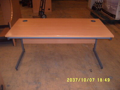 oblong wooden office table