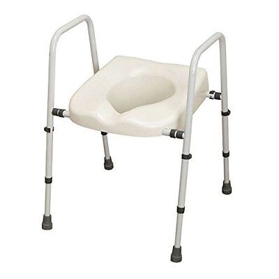 Adjustable Toilet Frame Raised Seat Aid Elderly Need Mobility Disability Support