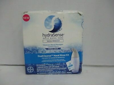 hydraSense DUALCLEANSE NASAL RINSE KIT LOOSENS MUCUS EXP 2/20  EXP 2/20 DE 4670