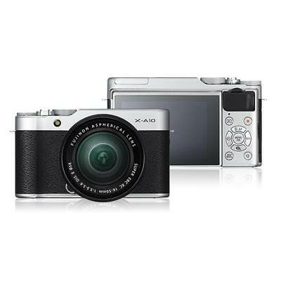 Fujifilm X-A10 Mirrorless Digital Camera with 16-50mm Lens Silver PX