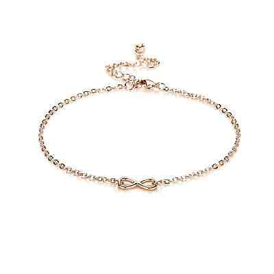 Rose Gold Infinity Anklet with Crystals from Swarovski®