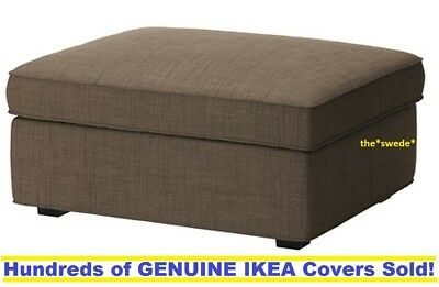 Beau IKEA KIVIK Footstool W/ Storage Ottoman Cover Slipcover ISUNDA BROWN New!  SEALED