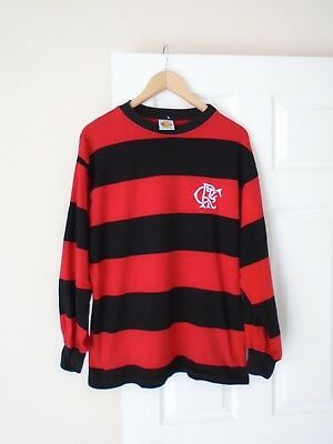 Flamengo Brazilian Football Club Vintage Toffs Retro Football Shirt Rare L Vgc