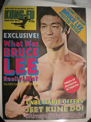 Kung Fu Monthly Poster Magazine no 12 - Excellent condition!! Bruce Lee KFM