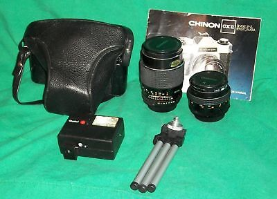 Chinon 35Mm Camera Cxii Len Case Rolei Flash Tripod Photo Bug Photography Artist