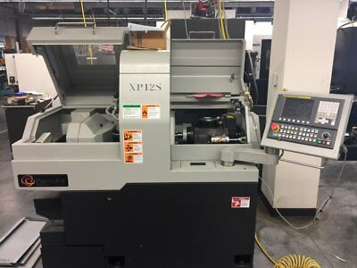 Used 2014 Hanwha XP12S CNC Swiss Type Turning Center Lathe Fanuc Tooling 10K rpm