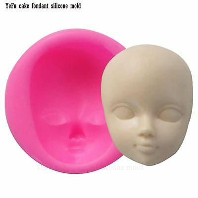 Baby face girl Head chocolate silicone mold for cake decorating tools Polymer Cl