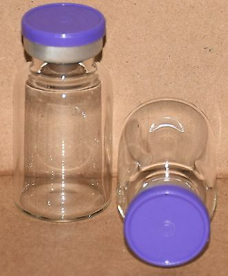 10 mL BB Clear Sterile Vial with Purple Plain Flip Top Seal Qty. 5