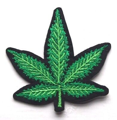 """Peace Cannabis Leaf Iron on Patch 3/"""" Free Shipping Marijuana Patch Weed P5657"""
