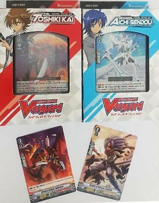 V-Td01 & 02 Aichi Sendou And Toshiki Kai Trial Deck Set In Stock!!! Promos Incl!