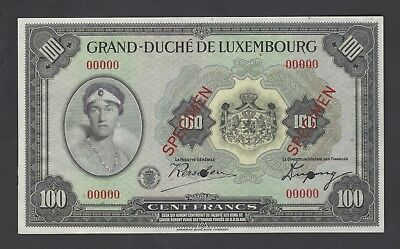 Luxembourg - Grand Duchy 100 Francs ND(1934) P39s Specimen Uncirculated