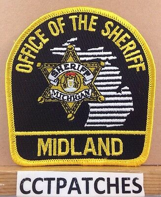 Midland County, Michigan Office Of Sheriff (Police) Shoulder Patch Mi