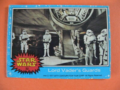 Star Wars. Topps Card. 1977. No.32. Lord Vader's Guards