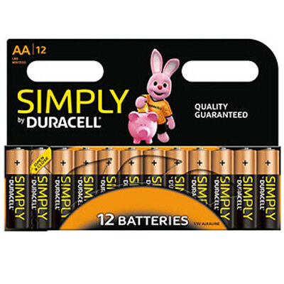 12 x DURACELL AA LONG LASTING POWER ALKALINE BATTERIES ECONOMY PACK LR6 MN1500