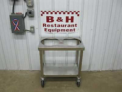 """16"""" x 26"""" Stainless Steel 5 Gallon Bucket Donut Icing Bakery Glazing Table"""