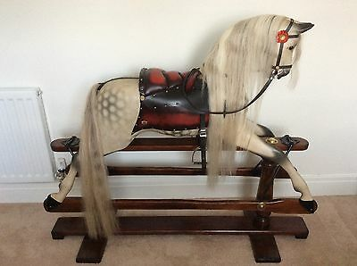 G&J Lines Large Antique Rocking Horse circa 1910. Beautiful Condition!!