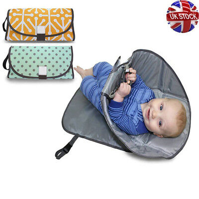 Deluxe 3in1 Portable Clean Hands Changing Pad Diaper Clutch Changing Station Mat