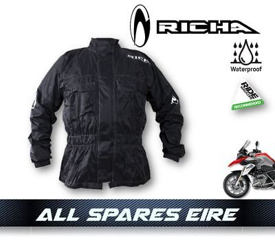 Richa Rain Warrior Black 100% Waterproof Over Coat/jacket Motorcycle Bike