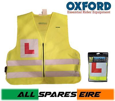 Oxford Hi-Viz Learner Vest Jacket Motorcycle Motorbike Scooter
