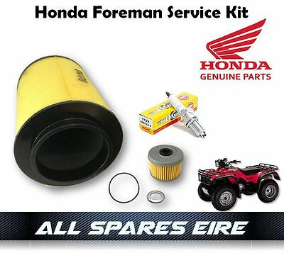 Genuine Honda Trx 400 450 Foreman Quad/atv Service Kit Inc Oil, Air Filter Etc