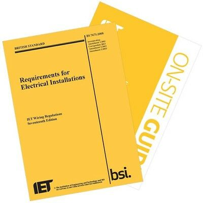 IET Wiring Regulations by The IET (Paperback, 2015) and on site guide
