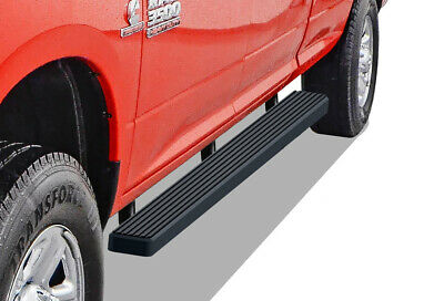 "iBoard Running Boards 4"" Matte Black Fit 09-18 Dodge Ram 1500/2500/3500 Crew Cab"