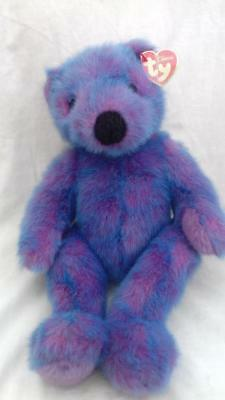 TY Beanie Baby Original Buddies Collection Purplebeary VGC with tag 14
