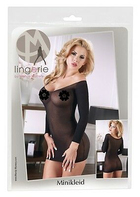 Mini abito trasparente nero Tg Unica S-L Mandy Mystery Sex shop donna 2713810