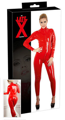 Sexy Tuta in lattice rosso Catsuit Latex Sexy shop Fetish uomo donna erotic hot