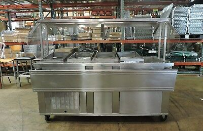 Seco 5CM Commercial Stainless Steel Refrigerated Salad Bar Buffet Table