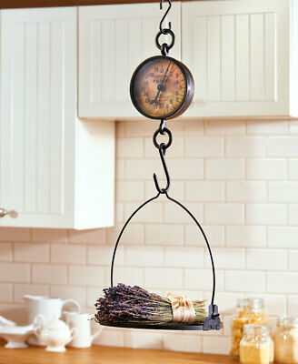 Decorative Antiqued Vintage Rustic Hanging Farmhouse Scale Kitchen Decor