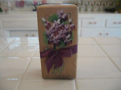 Beautiful Antique 1906 Apollo Candy Box With Ribbon And Hand Painted Violets