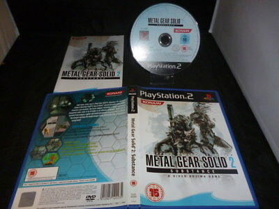 PS2 Metal Gear Solid 2 Substance _ per Console Sony Play Station 2 – PAL