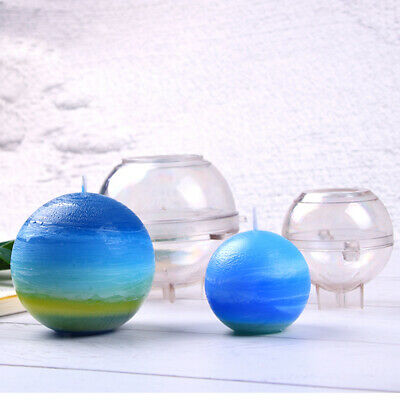 Sphere Shaped Plastic Clear Candle Mold Mould DIY Candle Making Craft Tools