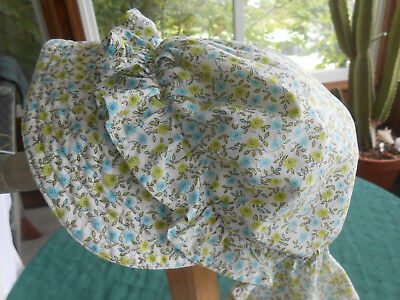 Antique Hand Made Sun Bonnet In Good Condition, Vintage 1940
