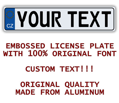 CZECH REPUBLIC Customized Personalized ALL European Union Car Euro license plate